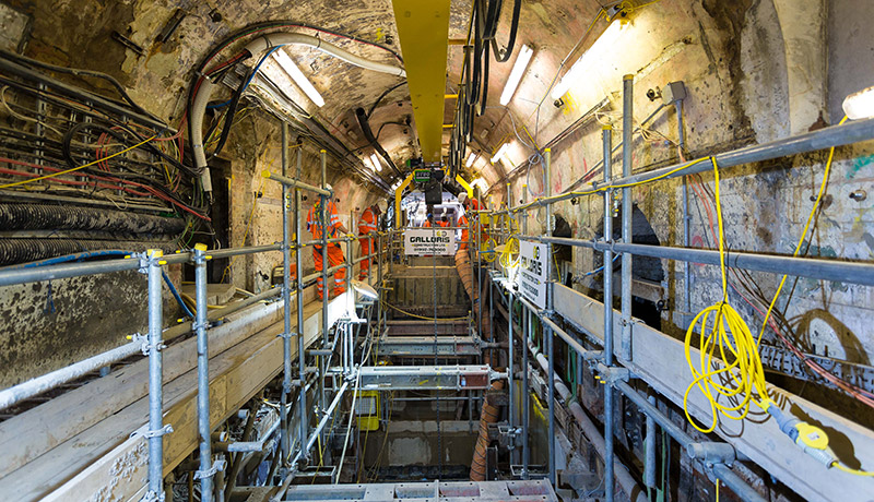 Galldris Construction tunnelling.