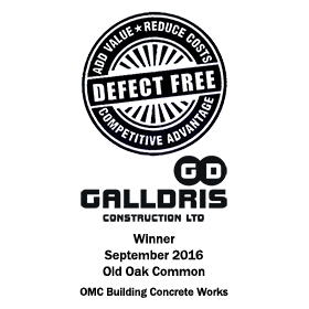 Galldris Defect Free Award